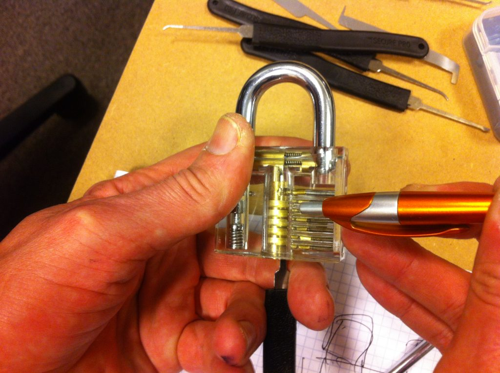 Lockpicking oefen slot
